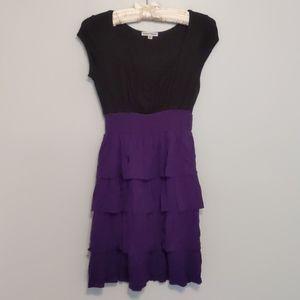 Velvet Torch Layered Mini Dress